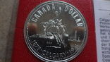 1 доллар 1975  Канада Калгери  Сертификат серебро, фото №3