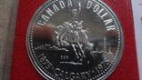1 доллар 1975  Канада Калгери  Сертификат серебро, фото №4