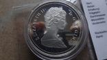 1 доллар 1986 Канада Ванкувер Сертификат серебро, фото №5