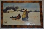 "Картина маслом ""Возвращение кума со святок"", фото №4"