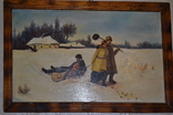 "Картина маслом ""Возвращение кума со святок"", фото №5"