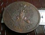 5 копійок 1740 року Росія / КОПІЯ пробної / не магнітна, мідна- лот 1штука, фото №3