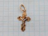 Крестик золото 585, фото №2