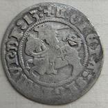 Монета Литовский полугрош 1513 год, 41АХ по каталогу,серебро, вес 1 гр. Состояние, фото №2