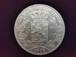 5 франков 1873 Бельгия Луитпольд І І, фото №2
