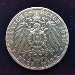 3 марки Баварія 1910 г., фото №2