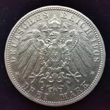 3 марки Баварія 1909 г., фото №2