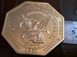 50 доларів США 1851 року. не  магнітний,   (позолота 999)  копія диної відомої, фото №2