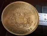 50 доларів США 1877 року. не  магнітний,   (позолота  )  копія диної відомої, фото №2