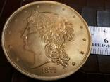 50 доларів США 1877 року. не  магнітний,   (позолота  )  копія диної відомої, фото №3