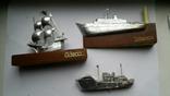 Сувениры настольные Одесса корабли 3шт, фото №2
