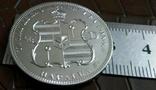 1/2 д. 1888 року - Гавайї магнітна, точна  копія,  посрібнення  999, фото №4