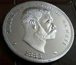 1/2 д. 1888 року - Гавайї магнітна, точна  копія,  посрібнення  999, фото №2