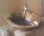 Латунная пепельница., фото №3