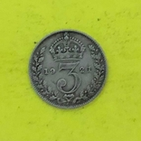 3 Пенсо 1921р. Срібло., фото №3