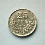 Швеция 25 эре 1940 г. - серебро, фото №2