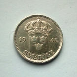 Швеция 25 эре 1940 г. - серебро, фото №5