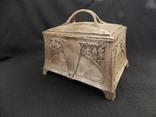 Немецкая серебряная шкатулка мастерской Вильгельма Биндера 800*, фото №3