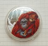 Тувалу. Орангутанг. 50 центов 2014 г. Копия, фото №2