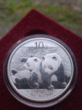 Панда Китай 10 юаней 2010 г. унция серебро 999 пробы , 31,1 гр., фото №2