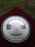 Панда Китай 10 юаней 2010 г. унция серебро 999 пробы , 31,1 гр., фото №4