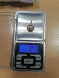 Кулон ,с жемчужиной,583 со звездой., фото №3