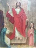 Воскресение Христово. Икона. 21х29. Красивые лики., фото №2