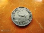 Британский Маврикий 1/2 рупии 1950 Георг VI фауна олень №2, фото №2