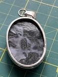 Индийский кулон с натуральным камнем покрытый серебром 925, фото №5