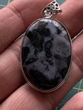Индийский кулон с натуральным камнем покрытый серебром 925, фото №7