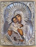 Ікона Володимирська Богородиця, латунь, 22,0х17,2 см, фото №2