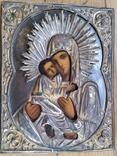 Ікона Володимирська Богородиця, латунь, 22,0х17,2 см, фото №4