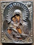 Ікона Володимирська Богородиця, латунь, 22,0х17,2 см, фото №5