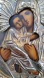Ікона Володимирська Богородиця, латунь, 22,0х17,2 см, фото №9