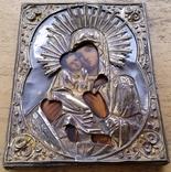 Ікона Володимирська Богородиця, латунь, 22,0х17,2 см, фото №11