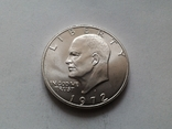 США 1 доллар 1972 S Эйзенхауэр / серебро, фото №2