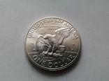 США 1 доллар 1972 S Эйзенхауэр / серебро, фото №3