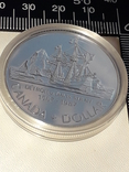 1 доллар, Канада, 1987 г., 400 лет открытию пролива Дейвиса, серебро, 0.500, 23.32 гр., фото №3