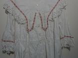 Рубашка женская конец 19 века  Италия с инициалами, фото №3