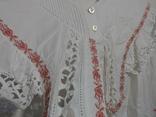 Рубашка женская конец 19 века  Италия с инициалами, фото №6