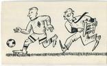 Аркадий Цыкун. Карикатуры футбол. Тушь. 1989г. Одесса. №3, фото №2