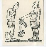 Аркадий Цыкун. Карикатуры футбол. Тушь. 1989г. Одесса. №10, фото №2