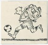 Аркадий Цыкун. Карикатуры футбол. Тушь. 1989г. Одесса. №11, фото №2