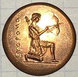 Херсонес. 330-310 г.д.н.э. Дихалк. Медь / дева, грифон, копия, фото №5