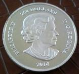 250 доларів  2014 року КАНАДА- копія  /посрібнення 999/, фото №4