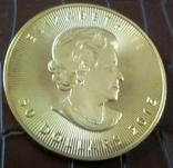50 доларів Канада  2015 року. Копія  (позолота 999), фото №3