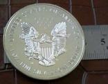 1 долар  2000 року США /репліка/ копія,посрібнення 999,, фото №2