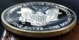 1 долар  2000 року США /репліка/ копія,посрібнення 999,, фото №4