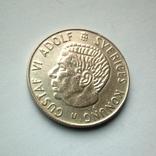 Швеция 1 крона 1964 г. - серебро, фото №2
