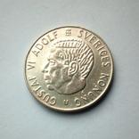 Швеция 1 крона 1964 г. - серебро, фото №3